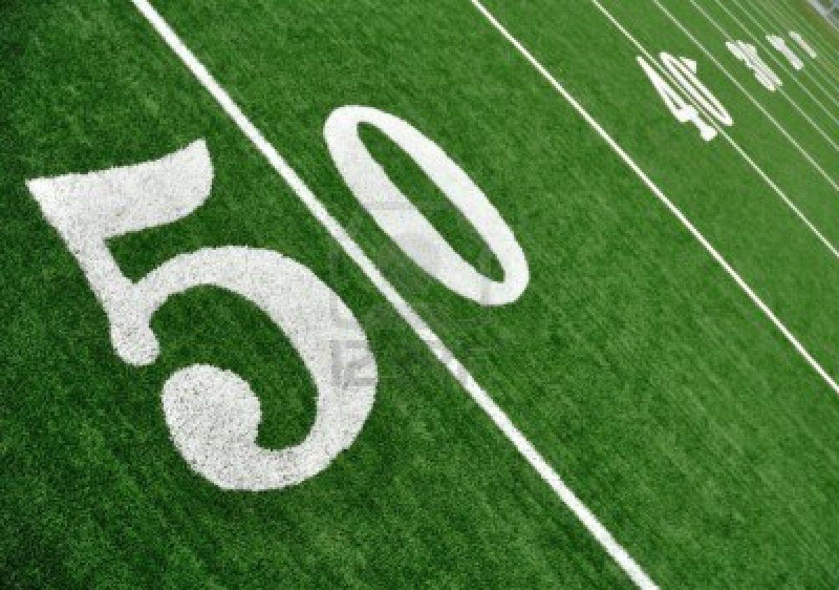 I'm on the 50-yard L...